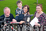 Home from Home after school service are giving one last chance for people to buy tickets to win Taoiseach Enda Kenny's bike to help raise funds for the respite service. .L-R Mick Leahy (Secretary of the Board of Management), Diarmuid Debhills, Helena Fox (Manager of the after school service) and Denise Lucey (Childcare worker)