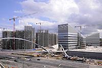- Milan, construction site for urban planning conversion of Portello area,driveway....- Milano, cantieri edili per la riconversione urbanistica dell'area del  Portello