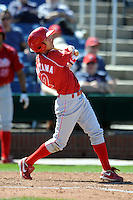 Reading Phillies infielder Troy Hanzawa #2 during a game versus the Portland Sea Dogs at Hadlock Field in Portland, Maine on September 3, 2012.  (Ken Babbitt/Four Seam Images)
