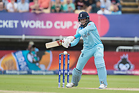 Joe Root (England) cuts to the point boundary during Australia vs England, ICC World Cup Semi-Final Cricket at Edgbaston Stadium on 11th July 2019