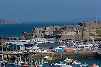 Royaume-Uni, îles Anglo-Normandes, île de Guernesey, Saint Peter Port: <br /> Castle Cornet// United Kingdom, Channel Islands, Guernsey island, Saint Peter Port: <br /> Castle Cornet