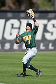 Siena Saints outfielder Andres Ortiz (3) during a game against the Central Florida Knights at Jay Bergman Field on February 16, 2014 in Orlando, Florida.  UCF defeated Siena 9-6.  (Copyright Mike Janes Photography)