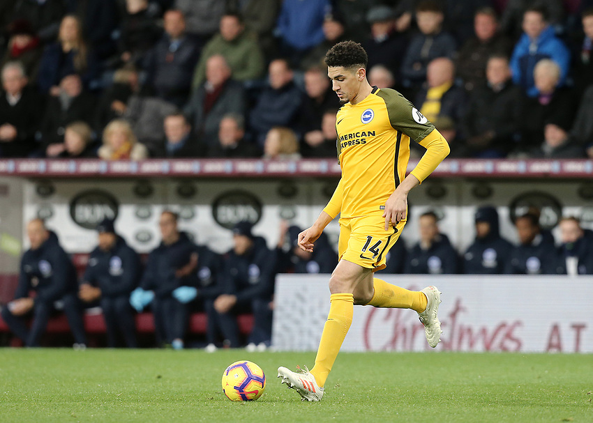 Brighton & Hove Albion's Leon Balogun<br /> <br /> Photographer Rich Linley/CameraSport<br /> <br /> The Premier League - Burnley v Brighton and Hove Albion - Saturday 8th December 2018 - Turf Moor - Burnley<br /> <br /> World Copyright © 2018 CameraSport. All rights reserved. 43 Linden Ave. Countesthorpe. Leicester. England. LE8 5PG - Tel: +44 (0) 116 277 4147 - admin@camerasport.com - www.camerasport.com