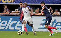 Arlington, TX - Saturday July 22, 2017: Darlington Nagbe during a 2017 Gold Cup Semifinal match between the men's national teams of the United States (USA) and Costa Rica (CRC) at AT&T stadium.