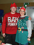 Andrew Dobson and Ger Carley at the Boyne RFC Christmas Fair in the Grammar School. Photo:Colin Bell/pressphotos.ie