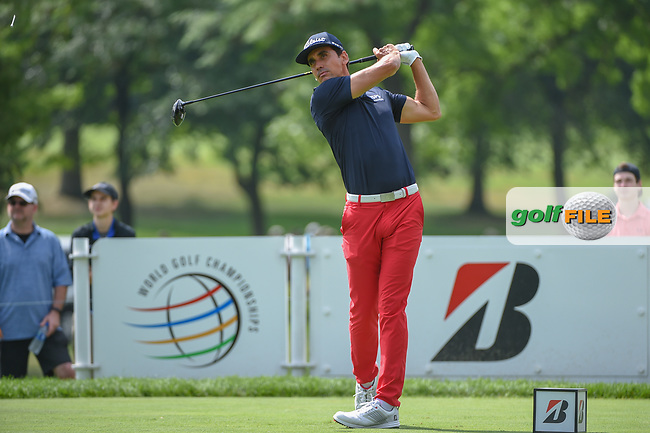 Rafael Cabrera Bello (ESP) watches his tee shot on 3 during 1st round of the World Golf Championships - Bridgestone Invitational, at the Firestone Country Club, Akron, Ohio. 8/2/2018.<br /> Picture: Golffile | Ken Murray<br /> <br /> <br /> All photo usage must carry mandatory copyright credit (© Golffile | Ken Murray)
