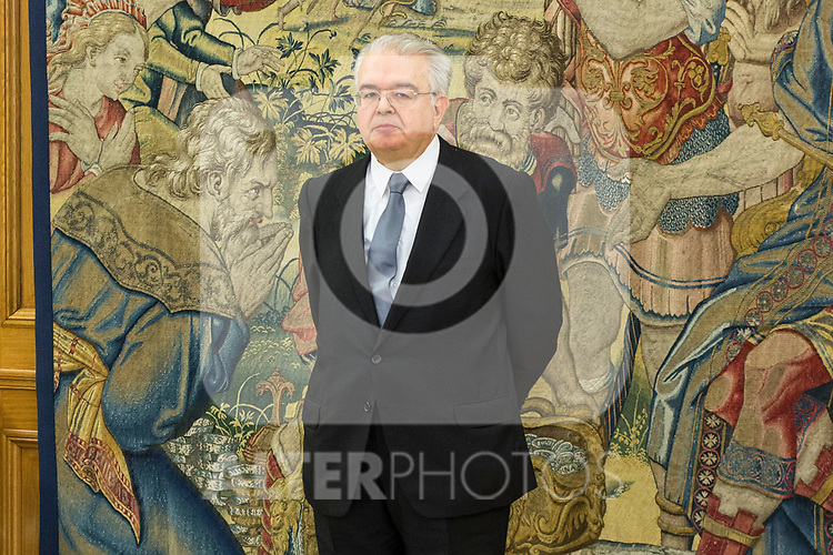Juan Jose Gonzalez Rivas, President of the Spanish Constitutional Court attends the audience at Zarzuela Palace in Madrid, Spain. March 31, 2017. (ALTERPHOTOS / Rodrigo Jimenez)