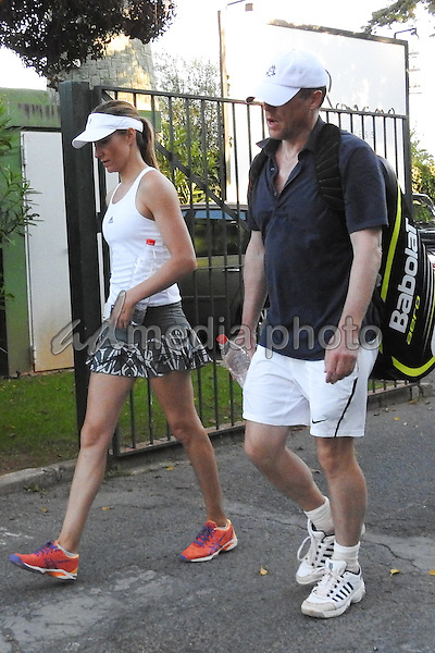 Hugh Grant And Anna Eberstein In Marbella Admedia Photo