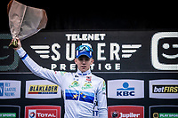 European champion Thibaut Nys (BEL) takes the win in the men juniors race.<br /> <br /> CX Superprestige Zonhoven (BEL) 2019<br /> Men Junior Race