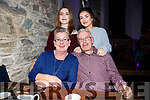 Charlie McCarthy from Gurteen celebrated his 60th birthday with family in The Oratory, Cahersiveen on Friday night pictured here front Deirdre & Charlie, back Laura & Sarah.