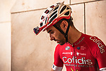 Daniel Navarro (ESP) Cofidis at sign on before the start of Stage 5 of the 2018 Tour of Oman running 152km from Sam'il to Jabal Al Akhdhar. 17th February 2018.<br /> Picture: ASO/Muscat Municipality/Kare Dehlie Thorstad | Cyclefile<br /> <br /> <br /> All photos usage must carry mandatory copyright credit (&copy; Cyclefile | ASO/Muscat Municipality/Kare Dehlie Thorstad)
