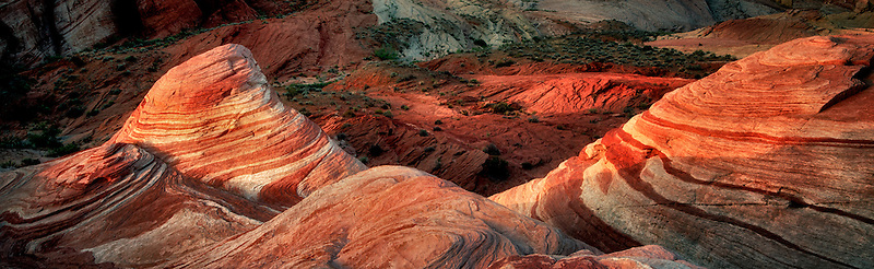 The Fire Wave at first light. Valley of fire State Park, Nevada