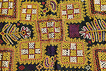 ANTIQUE GHODIYU OR CRADLE HAMMOCK CLOTH RJPUT TRIBE KUTCH GUJARAT.<br /> <br /> The purple and magenta patches are created using the Huramchi stitch.
