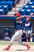 Roberto De La Cruz of the Gulf Coast League Cardinals during the game at Space Coast Stadium in Viera, Florida July 11 2010.  Photo By Scott Jontes/Four Seam Images