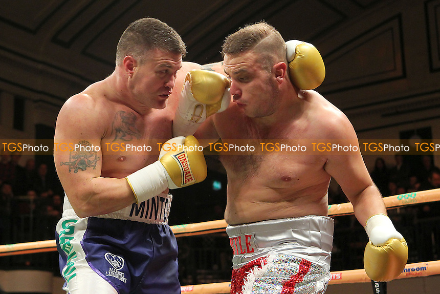 Brian Minto of the USA defeats Tom Little of the UK - UK vs USA Prizefighter International Heavyweight Boxing at York Hall, Bethnal Green, London - 14/11/13 - MANDATORY CREDIT: Gavin Ellis/TGSPHOTO - Self billing applies where appropriate - 0845 094 6026 - contact@tgsphoto.co.uk - NO UNPAID USE