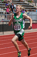 New Haven senior Alex Majors sprints to the finish of the Class 1 400-meters enroute to a seventh-place finish in 23.50 at the Missouri Class 1 and 2 State Track and Field Championships in Jefferson City, Saturday, May 21.