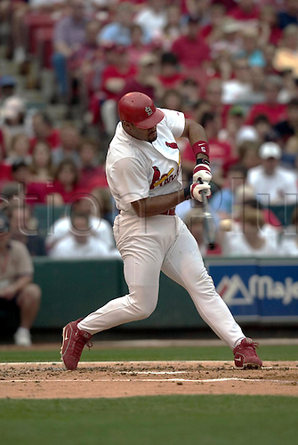 5 June 2004: Albert Pujols of the St. Louis Cardinals during the Cards 10-4 victory over the Houston Astros at Busch Stadium in St. Louis, MO, USA. Photo: Albert Dickson/Icon/actionplus...Baseball Major League MLB National League
