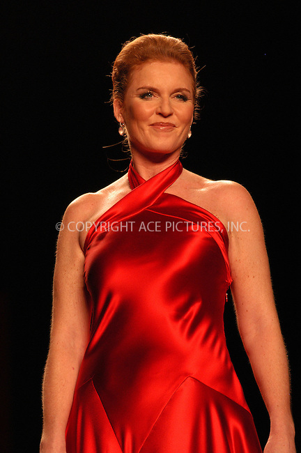 WWW.ACEPIXS.COM . . . . . ....NEW YORK, FEBRUARY 4, 2005....Sarah Ferguson walks the runway in The Heart Truth Red Dress Collection at Olympus Fashion Week.....Please byline: KRISTIN CALLAHAN - ACE PICTURES.. . . . . . ..Ace Pictures, Inc:  ..Philip Vaughan (646) 769-0430..e-mail: info@acepixs.com..web: http://www.acepixs.com