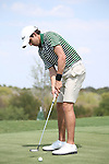 SOUTHLAKE, TX - SEPTEMBER 10: Rubio Gonzalo of the North Texas Mean Green Men's Golf at the Trophy Club Country Club in Southlake on September 10, 2013 in Southlake, Texas. Photo by Rick Yeatts