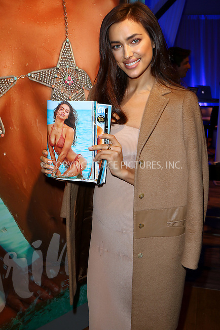 WWW.ACEPIXS.COM<br /> <br /> February 16 2016, New York City<br /> <br /> Model Irina Shayk at the Sports Illustrated Swimsuit 2016 - Swim City at the Altman Building on February 16, 2016 in New York City.<br /> <br /> <br /> By Line: Zelig Shaul/ACE Pictures<br /> <br /> <br /> ACE Pictures, Inc.<br /> tel: 646 769 0430<br /> Email: info@acepixs.com<br /> www.acepixs.com