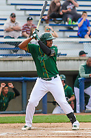 Beloit Snappers first baseman Miguel Mercedes (7) at bat during a Midwest League game against the Peoria Chiefs on April 15, 2017 at Pohlman Field in Beloit, Wisconsin.  Beloit defeated Peoria 12-0. (Brad Krause/Four Seam Images)
