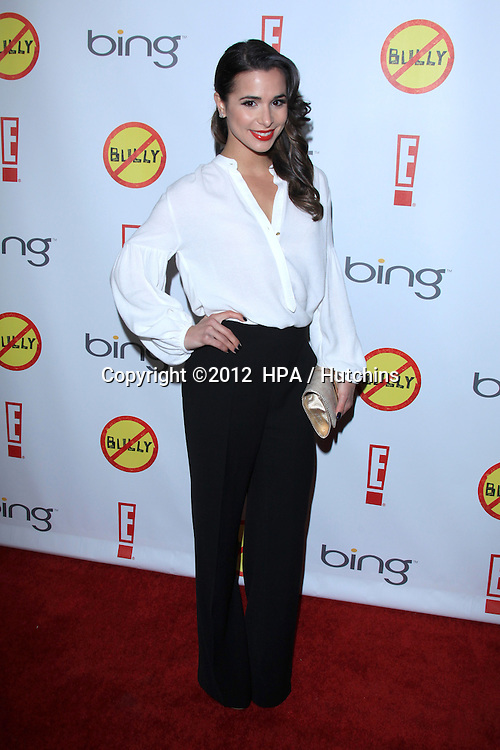 """LOS ANGELES - MAR 26:  Josie Loren arrives at  the """"Bully"""" Movie Premiere at the Chinese 6 Theaters on March 26, 2012 in Los Angeles, CA"""
