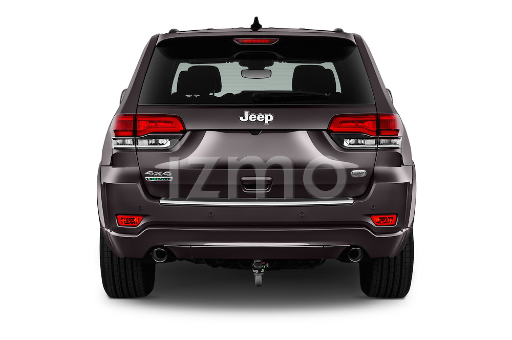 Straight rear view of 2016 JEEP Grand-Cherokee Overland 5 Door Suv Rear View  stock images