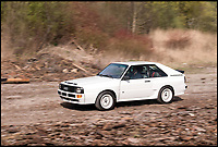 BNPS.co.uk (01202 558833)<br /> Pic: DirkdeJager/RMSothebys/BNPS<br /> <br /> 'Fire up the Quattro'...<br /> <br /> An exceptionally rare road-going version of the iconic Audi Quattro that dominated the golden era of rallying has emerged for &pound;300,000.<br /> <br /> The 1985 speedster is one of only 164 ever sold and offers petrolheads the unique opportunity to acquire a competition level car which is fully road legal. <br /> <br /> Named the Sport Quattro, it boasts phenomenal handling and a whopping 300hp engine, propelling the motor to around 150mph. <br /> <br /> The car will be sold from Villa Erba on the banks of Lake Como, Italy, on May 27.