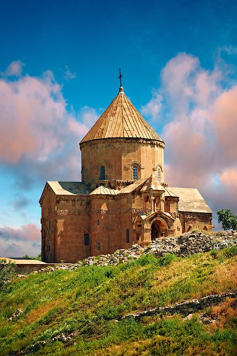 10th century Armenian Orthodox Cathedral of the Holy Cross on Akdamar Island, Lake Van Turkey 45