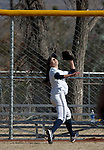 March 23, 2012:   Nevada Wolf Pack  left fielder Chelsea Barilli goes back on a fly ball against the Fresno State Bulldogs during their NCAA softball game played at Christina M. Hixson Softball Park on Friday in Reno, Nevada.