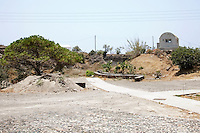 The Akrotiri settlement on Santorini, Greece on July 7, 2013.