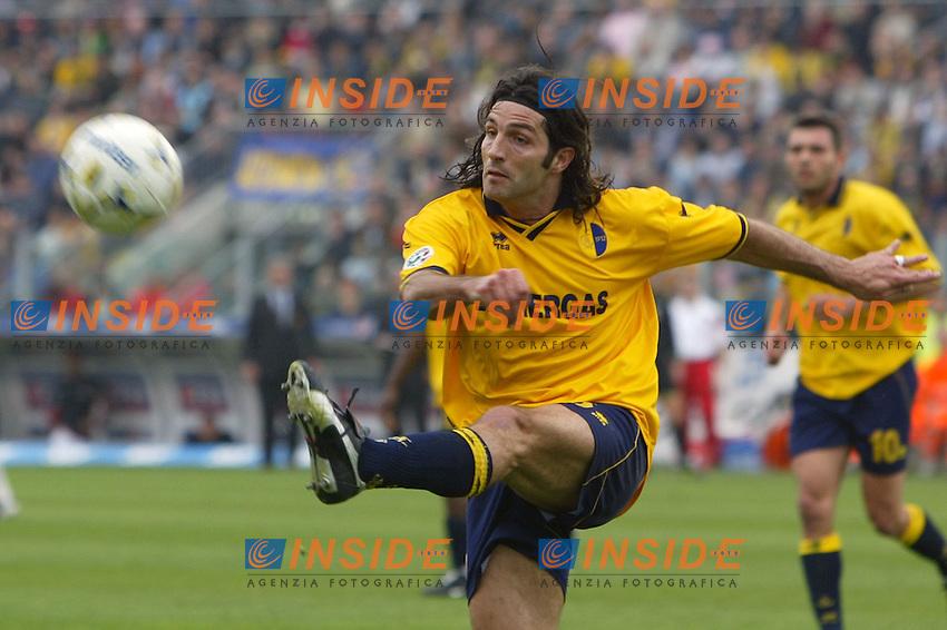Modena 4/4/2004 Campionato Italiano Serie A 28a Giornata - Matchday 28<br /> Modena Milan 1-1<br /> Mauro Mayer (Modena)<br /> Foto Andrea Staccioli Insidefoto