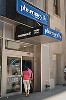 A Duane Reade store is pictured in New York City, NY Tuesday August 2, 2011. Duane Reade Inc., a subsidiary of the Walgreen Company, is a chain of pharmacy and convenience stores, primarily located in New York City, known for its high volume small store layouts in densely populated Manhattan locations.