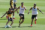 Getafe's Francisco Portillo, Nemanja Maksimovic and Jason Remeseiro during training session. June 5,2020.(ALTERPHOTOS/Acero)