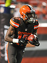 CLEVELAND, OH - SEPTEMBER 1, 2016: Wide receiver Darius Jennings #17 of the Cleveland Browns returns a kickoff in the third quarter of a game on September 1, 2016 against the Chicago Bears at FirstEnergy Stadium in Cleveland, Ohio. Chicago won 21-7. (Photo by: 2016 Nick Cammett/Diamond Images)  *** Local Caption *** Darius Jennings