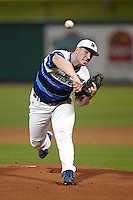 Seton Hall Pirates starting pitcher Ryan Harvey #32 delivers a pitch during a game against the Ohio State Buckeyes at the Big Ten/Big East Challenge at Florida Auto Exchange Stadium on February 18, 2012 in Dunedin, Florida.  (Mike Janes/Four Seam Images)