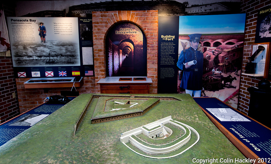 The Fort Barrancas visitors center gives an overview to the site four countries have chosen to defend Pensacola Harbor.<br /> COLIN HACKLEY PHOTO