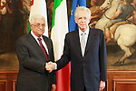 Palestinian President, Mahmoud Abbas (Abu Mazen) meets with Italian Prime Minister Monty in Rome on July 17, 2012. Photo by Thaer Ghanaim. Photo by Thaer Ghanaim