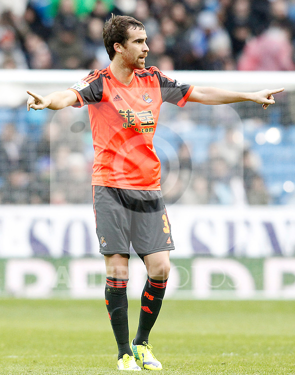 Real Sociedad's Mikel Gonzalez during La Liga match.January 31,2015. (ALTERPHOTOS/Acero)