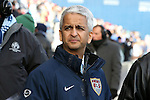 07 December 2013: United States Soccer Federation president Sunil Gulati. MLS Cup 2013 was played between Sporting Kansas City and Real Salt Lake at Sporting Park in Kansas City, Kansas. Sporting Kansas City won the championship by winning the penalty kick shootout 7-6 after the game ended in a 1-1 tie.
