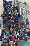 02/12/2012 Frome Christmas Super Market, flea market and artisan market encompassing Cheese and Grain car park, Market Place, Westway Precinct, Stony Street and Catherine Hill. A birds-eye view of Catherine Hill shows just how busy the market gets here.