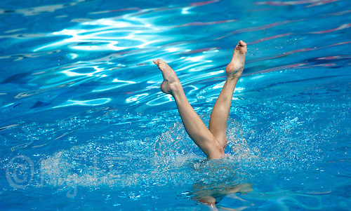 19 MAR 2006 - MELBOURNE, AUS - Jenna Randall (ENG) performs in the Synchro Solo Free Routine Final at the 2006 Commonwealth Games (PHOTO (C) NIGEL FARROW)
