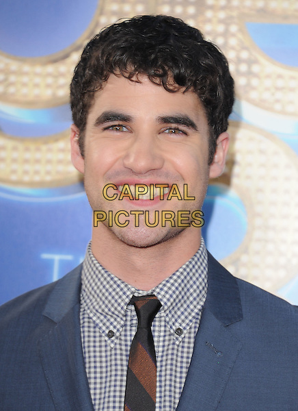 Darren Criss.attends The 20th Century Fox 'Glee 3D' Concert World Movie Premiere held at The Regency Village theatre in Westwood, California, USA, .August 6th 2011..portrait headshot smiling blue checked gingham shirt .CAP/RKE/DVS.©DVS/RockinExposures/Capital Pictures.