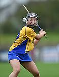 Aoife Power of Clare takes a free during their Minor A All-Ireland final against Galway at Nenagh.  Photograph by John Kelly.