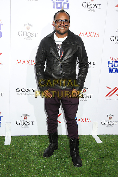Apl.de.Ap (Allan Pineda) of he Black Eyed Peas.Maxim Hot 100 Party 2013 held at Vanguard, Hollywood, California, USA..May 15th, 2013.full length black leather jacket purple trousers sunglasses shades .CAP/ADM/BP.©Byron Purvis/AdMedia/Capital Pictures