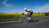 16 MAY 2010 - LYDD, GBR - Edward Baker - The Marshman Triathlon (PHOTO (C) NIGEL FARROW)