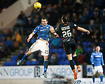St Johnstone v Kilmarnock....09.01.16  Scottish Cup  McDiarmid Park, Perth<br /> Chris Kane and Conrad Balatoni<br /> Picture by Graeme Hart.<br /> Copyright Perthshire Picture Agency<br /> Tel: 01738 623350  Mobile: 07990 594431