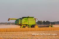 63801-07919 Soybean Harvest John Deere combine Marion Co. IL
