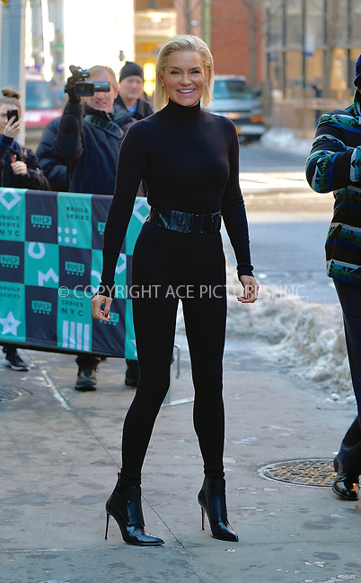 www.acepixs.com<br /> <br /> January 10 2018, New York City<br /> <br /> Model Yolanda Hadid made an appearance at Build Series on January 10 2018 in New York City<br /> <br /> By Line: Curtis Means/ACE Pictures<br /> <br /> <br /> ACE Pictures Inc<br /> Tel: 6467670430<br /> Email: info@acepixs.com<br /> www.acepixs.com