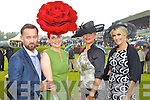 Brendan Courtney, Joann Murphy, Kilgarvan who won best hat award, Lora Beth Malloy from Oklahoma, Queen of Fashion and Lisa Fitzpatrick at Killarney races ladies day on Thursday.